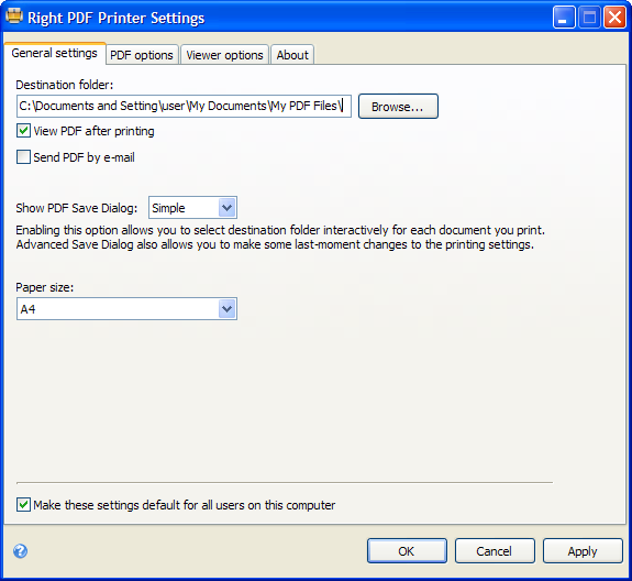 Right PDF Printer 3.0 [Simple Edition]